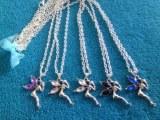 LOT de collier fées sur chaine avec rhinestone