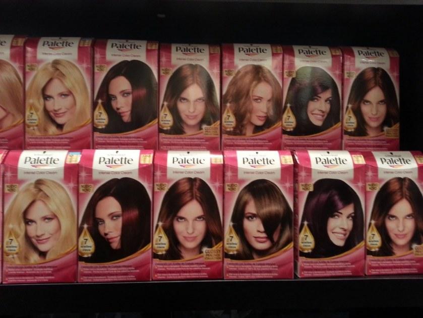 Palette de couleur de teinture pour cheveux