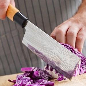 SHOP-STORY - DAMAS : Jeu de 3 Couteaux de Cuisine Japonais