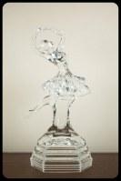 Statuette danseuse étoile en verre