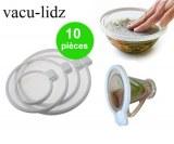 230 Lot de 10 Vacu Lidz - couvercles fraicheur