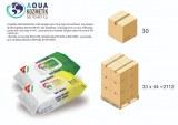 Lingettes humides antibactériennes 80 PCS EN14476 VIRUCIDE