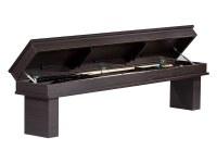 Coffre-banc pour table de billard amovible - wengé boisé