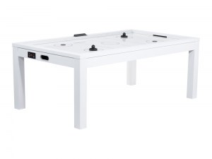 Table Air Hockey convertible en table à manger - Couleur blanche