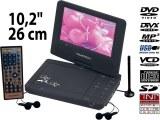 Lecteur DVD TNT portable rotatif 10,2 pouces (26 cm)