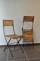 Chaise pliante fer forgé