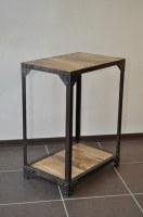 Console industrielle métal et bois
