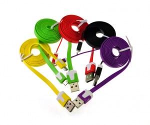 Cable USB/Micro USB plats