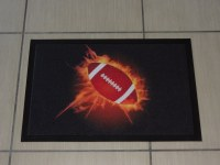LOT TAPIS RUGBY FLAMME 40 X 60 ET 60 X 80