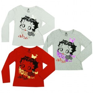 Betty Boop manches longues
