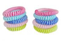 Sachet de 10pcs bracelets anti moustique bicolour