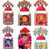 100 sucettes Pinpops 17gr avec chewing gum date 2023!
