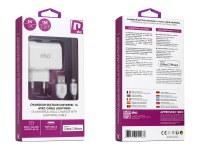 Kit 2 en 1 chargeur secteur USB blanc 1A avec câble lightning MFI