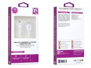 Câble de charge et synchronisation lightning - Blanc