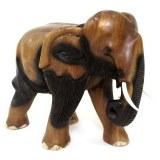 Eléphant en bois massif 27 cm