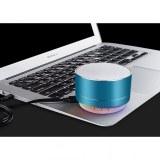Enceinte bluetooth d'exterieur Métal 3W lumineuse-Bleu