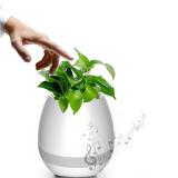 Pot de fleur à musique intelligente, haut parleur Bluetooth et éclairage LED
