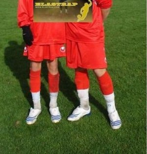 MAINTIEN PROTEGE TIBIA PROTECTION BANDE MANCHON MOLLET FOOTBALL FUTSAL