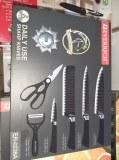 Ensemble 6 couteaux de cuisine en acier inoxydable