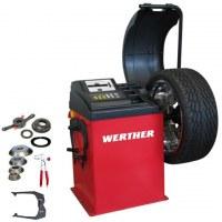 Equilibreuse de roues à microprocesseur pour véhicules légers automatique Werther OLIMP...