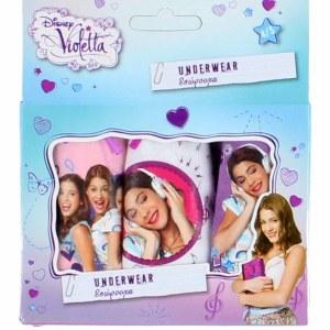 Disney Violetta boite de 3 culottes fille.