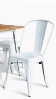 Importateur grossite chaise acier blanc