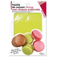 Plaque à macarons en silicone / 2.95€HT - TUTTI CUISINE