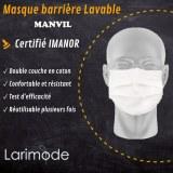 Masque barrière Lavable Larimod MANVIL