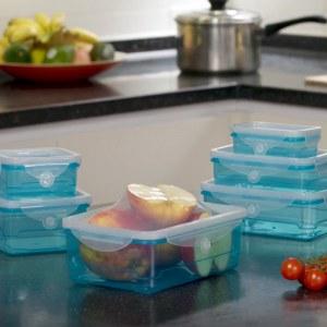 SHOP-STORY - FLEX LID : Lot de 6 Boîtes de Conservation Alimentaire avec Couvercles en...