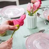 SHOP-STORY - FLOWER NAPKIN : Lot de 4 Porte-Serviettes Créateurs de Fleurs