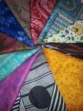 Foulard en soie extrait du saris made in india