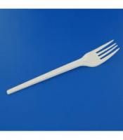 50 fourchettes blanches plastiques 165mm