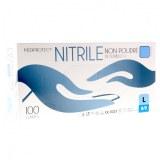 Gant nitrile bleu sans poudre EN374, EN455