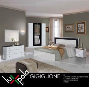 Chambre a coucher complete gigiglione destockage grossiste for Acheter une chambre a coucher complete