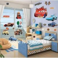 Lot de 10 planches stickers muraux cars