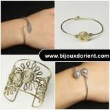 Fournisseur en bracelets métal argentés et laiton