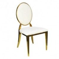 Chaise médaillon gold et blanche