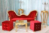 Fauteuil et meridienne baroque