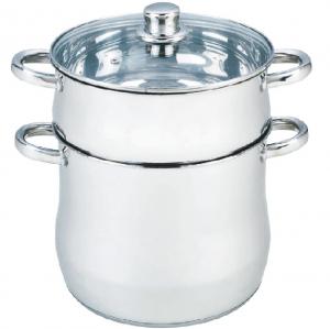 Couscoussier - Cuisseur vapeur Inox Avec INDUCTION - Avec couvercle VERRE