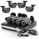 8 Système de caméra de surveillance DVR - 8 caméras CCTV en plein air, DVR H264