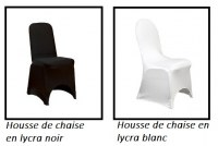 GROSSISTE housse de chaise en lycra/spandex