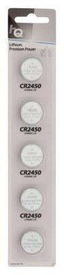 Piles lithium CR2450 3V par 5 pcs HQ