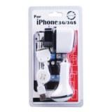 3-in-1 kit chargeur mobile pour iPhone (fiche secteur / chargeur de voiture / cable usb)