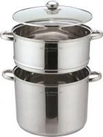 Couscoussier - Cuisseur vapeur Inox Avec INDUCTION et couvercle VERRE