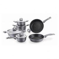 Batterie de cuisine 10 Pcs Marbre Revêtement - Pierre - Cookware Set