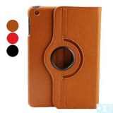 Conception rotative PU Case avec support pour iPad Mini - Sable, rouge, noir