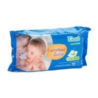 Lot de lingettes bébés marque Carrefour