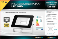 PROJECTEUR LED ULTRA PLAT 10 W - 900 lumens (ref 422)