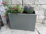 LOT - Pot - Bac a fleurs design en fibre de verre HAUT DE GAMME
