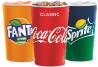 Boissons coca cola, fanta, sprite, caprisun, ice tea